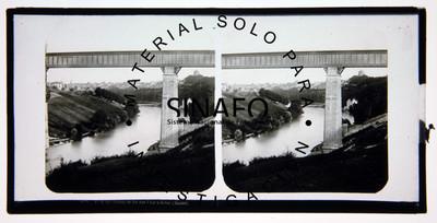 """Puente ferroviario sobre el río, """"4096 Pont du chemin de fer sur l'Aar á Berne (Suisse)"""""""