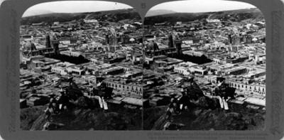 """Vista de la Ciudad de Zacatecas. """"Zacatecas, showing cathedral with one tower destroyed by cammon- Shot during revolution"""""""