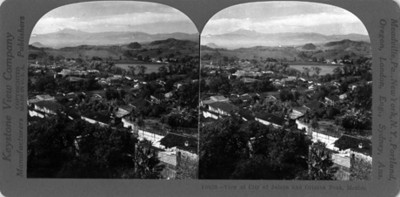 Vista de la Ciudad de Jalapa y del Pico de Orizaba