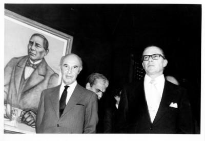 Renuncia de Emilio O. Rabasa y toma de posesión de Alfonso García Robles como Secretario de Relaciones Exteriores