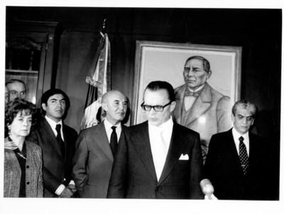 Emilio O. Rabasa junto a Alfonso García Robles durante ceremonia de la SRE