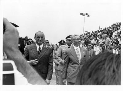Luis Echeverría Álvarez con Kjell Eugenio Laugerud presidente de Guatemala