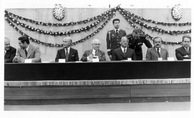Luis Echeverría, reunido con el Presidente Venezolano, durante ceremonia