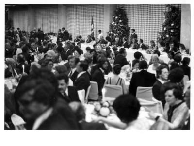 Vista general de la cena ofrecida en honor al Presidente de la República Federal Alemana Walter Scheel