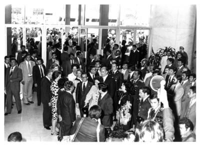 Recibimiento del presidente de España Adolfo Suárez durante su visita a México