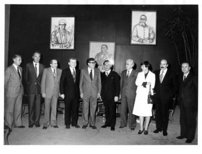 Altos funcionarios con Emil Wojtaszek de Polonia en su visita a México