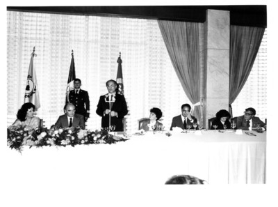 Participante en el Parlamento Latinoamericano toma la palabra en el banquete oficial