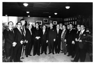 Alfonso de Rosenzweig acompañado de miembros de la Misión de Amistad México-Nagoya