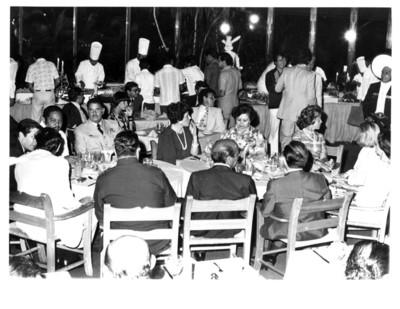 Cena ofrecida a Adolfo Suárez y comitiva durante su estancia en Cancún