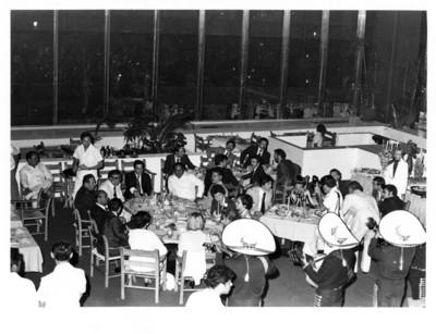 Vista general de la cena ofrecida al señor Adolfo Suárez por su visita a Cancún