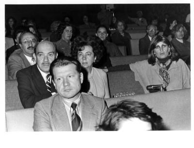 Juan de la Hidalga, María Emilia Téllez y Patricia Roel en el concierto de los Hermanos Bermejo