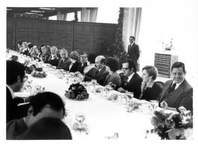 Convite ofrecido en la SRE en honor del diplomático Armand Hammer
