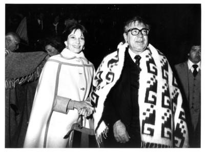 Santiago Roel y Gloria Rodríguez de Roel durante la visita de los Reyes de España a Guanajuato