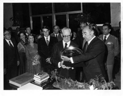 José López Portillo con Ernesto Géisel, presidente de Brasil