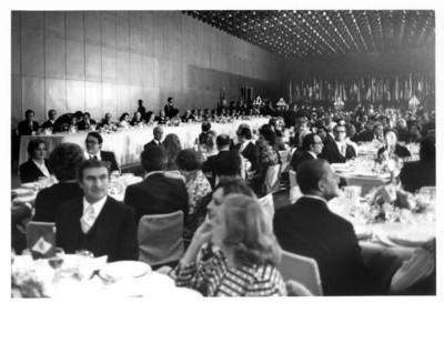 Vista de la cena en honor al Presidente de Brasil Ernesto Geisel