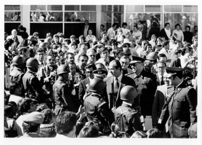 Llegada del Rey Juan Carlos I en su visita a México