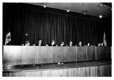"""Reunión del """"33 Aniversario de las Naciones Unidas"""" en el auditorio de la Secretaría de Relaciones Exteriores"""