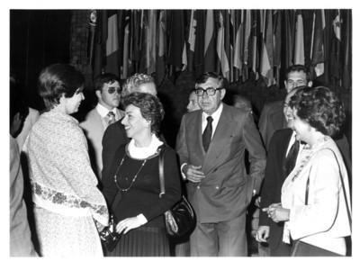 Santiago Roel junto a Carlos Humberto Romero en reunión con los jefes de misiones diplomáticas
