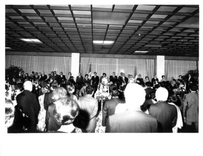 Cena ofrecida por José López Portillo al presidente de Francia en interior de la Secretaría de Relaciones Exteriores