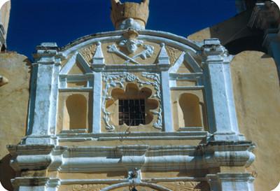 Iglesia, detalle de la fachada