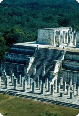 Templo de los Guerreros, vista parcial