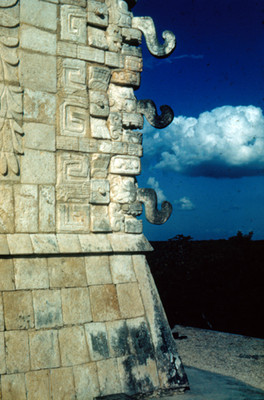 Mascarones del Templo de los Guerreros, detalle