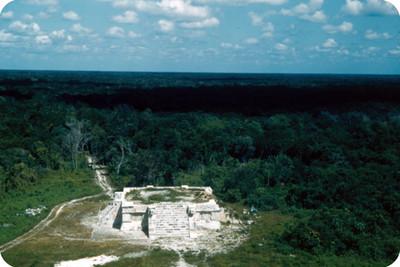Plataforma prehispánica, panorámica