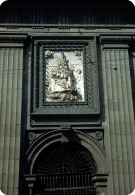 Iglesia, fachada, detalle