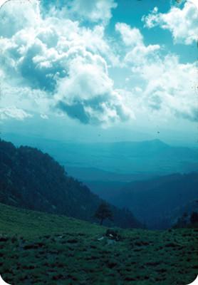 Montañas, vista desde el volcan, paisaje