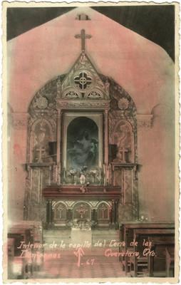 """""""Interior de la capilla del Cerro de las Campanas"""", tarjeta postal"""