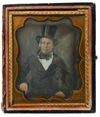 Hombre con sombrero de copa, retrato