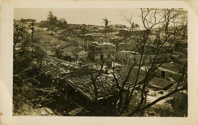 Calle Hidalgo después de un ciclón