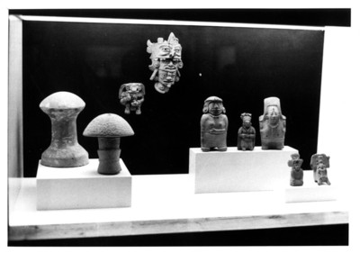 Esculturas prehispánicas mayas, vista