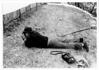Iker Larrauri durante las prácticas de campo del ENAH en Palenque