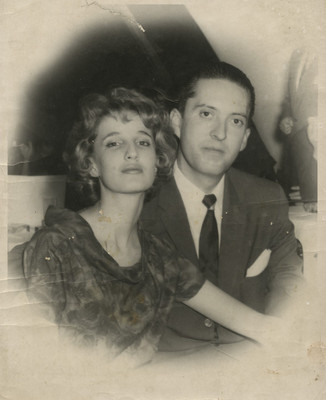 Josefina Dahl y Felipe Lacouture durante su etapa de noviazgo