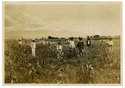 Pandurang Khankhoje y el aspecto del campo de experimentación de la Escuela Libre de Agricultura Emiliano Zapata