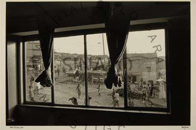 Vista de un barrio de Harar desde una ventana