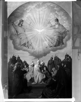 Reproducción de una pintura al óleo hecha por el padre Carrasco