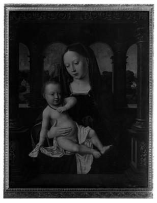 Pintura de Virgen con el niño