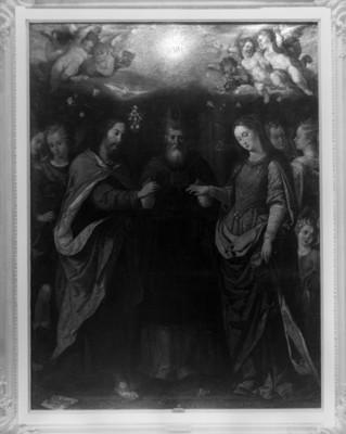"""""""Los Desposorios de la Virgen"""", pintura de Sebastián López de Arteaga"""