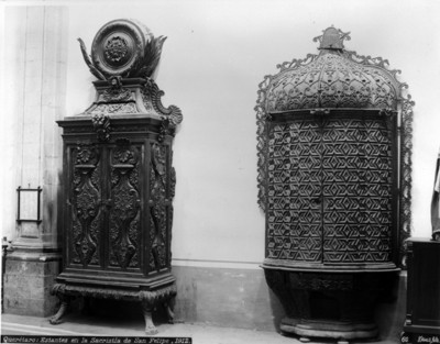 Querétaro, estantes de la sacristía de San Felipe