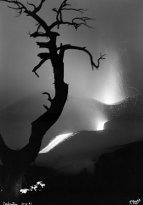 El Paricutín, toma nocturna