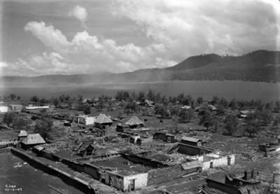 """Poblado de """"San Juan"""" Parangaricutiro, devastado a causa de la erupción de """"El Paricutín"""