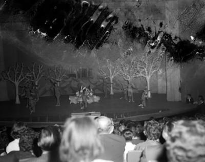 Público observa representación teatral
