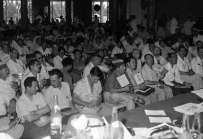 """Congresistas asistentes a la convención del """"club de Leones"""""""