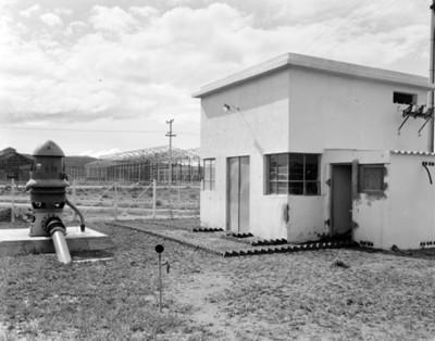 Máquina de bombeo de agua, vista parcial