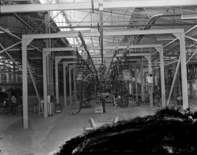 Instalaciones de la planta automotríz Nissan, interior, vista parcial