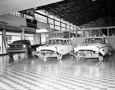 """Automóviles """"Studebakec"""" en sala de exhibición"""