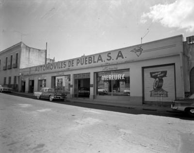 """""""Automóviles de Puebla, S.A."""", fachada"""