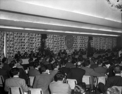 Hombres durante Convención de la ANDA, vista parcial